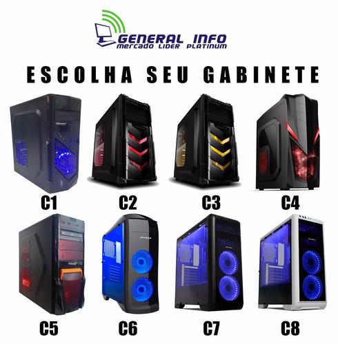 cpu gamer intel 7° geração/ 1tb/ ssd / 8gb ddr4/ gtx1050 ti