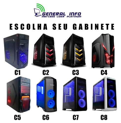cpu gamer intel 7° geração/ gtx 1050 / 1tb / 8gb ddr4/ gta v
