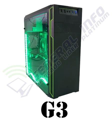 cpu gamer intel/ core i5/ 8gb/ 1tb/ radeon 2gb / wi-fi/ led