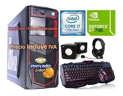 cpu gamer intel core i7 7ma gen 2tb 16gb gt-730 4gb computad
