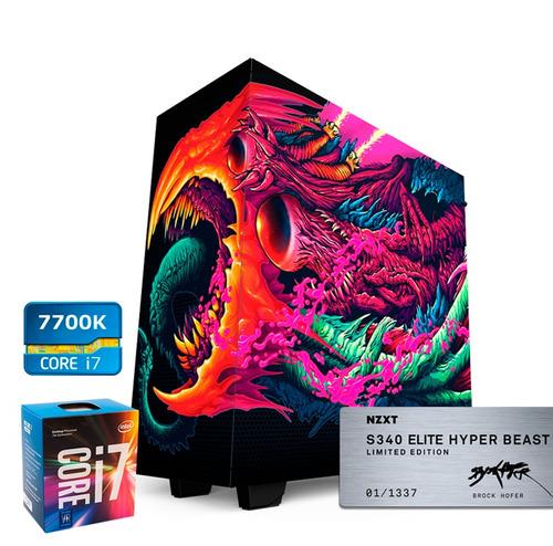 cpu gamer intel i7 7700k 7ma g. ram32gb asus gtx1070 8gb 2k