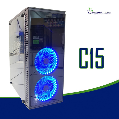 cpu gamer intel/core i5/ 8gb/ 500gb/ gt1030 / wifi/ led gab