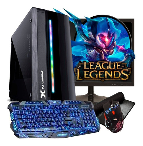 cpu gamer + monitor22 amd a4 7300/ 2tb/ 16gb/ hd 8470d/ hdmi