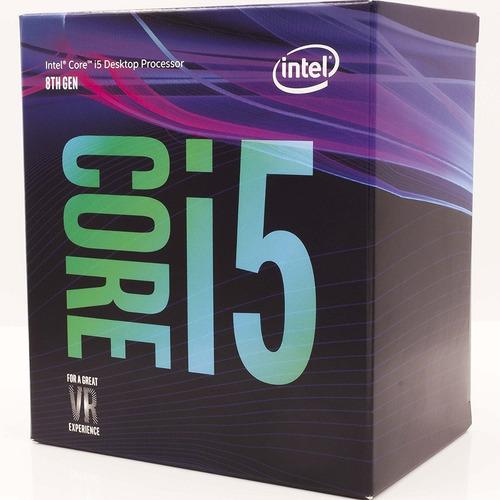 cpu gamer nueva generacion intel i5 8400 ddr4 8gb 1tb 80+