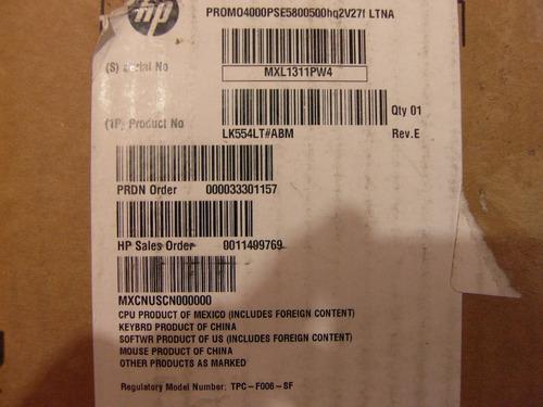 cpu hp promo4000pse5800500 hq2v27f ltna
