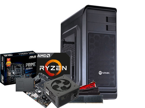 cpu hunter ryzen 2200g mb a320m k 2x 8gb ssd 120gb 500w bc