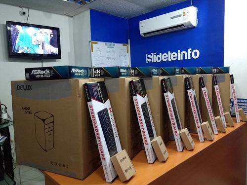 cpu i3 i5 i7 nuevo 4gb 500gb dvd asrock 1155 intel tienda