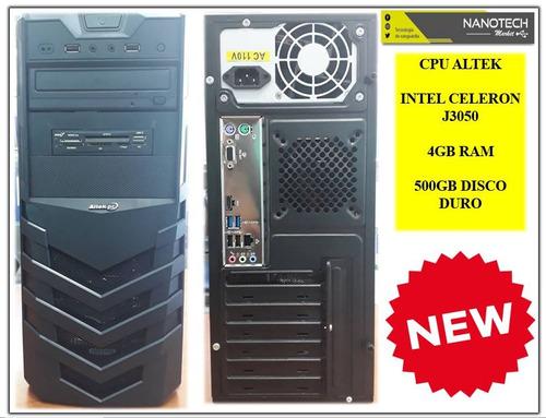 cpu intel celeron j3050/4gb ram/500gb disco
