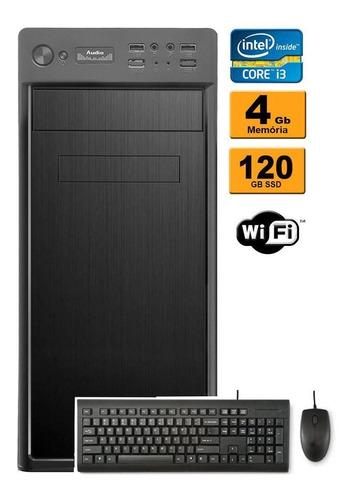 cpu intel core i3 3ª geração 4gb ddr3 ssd 120gb wifi