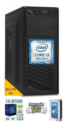 cpu intel core i3 3.6 8va 1tb 4gb computadora, i5/i7