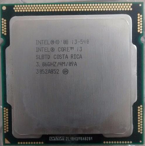 cpu intel core i3 540 3,0 ghz 2gb ddr3 hd 80 gb '