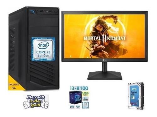 cpu intel core i3 7ma gen. 1tb 4gb led 20 computadora, i5/i7