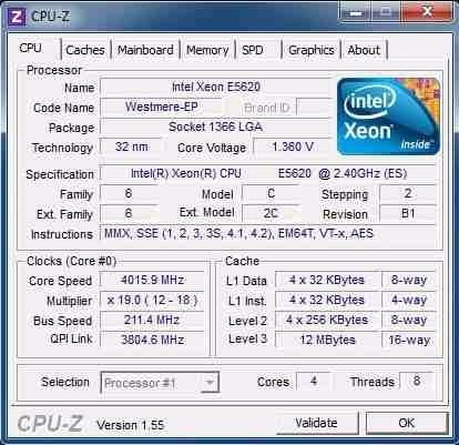 cpu intel xeon e5620 (2.4ghz / 12mb / 5.86gt/s, lga1366)