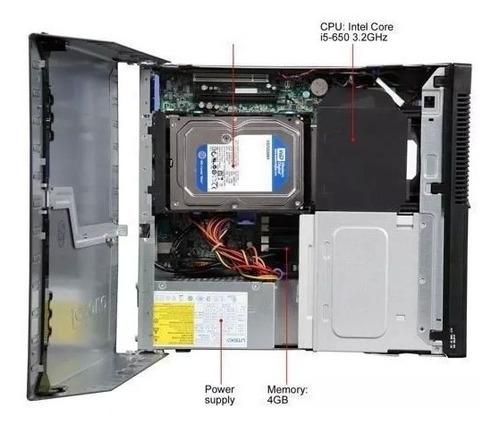 cpu lenovo completa m90p i5 3.2 4gb hd500 + monitor + brinde
