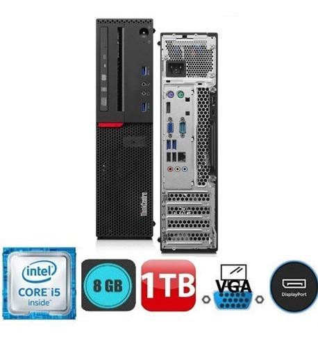 cpu + monitor lenovo m710s core i5 7ger 8gb 1tb - promoção