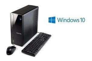 cpu + monitor positivo intel dual core 4gb hd 500gb - novo