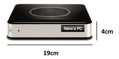 cpu nano pc tob compact dual core 2.4ghz 4gb 500gb hdmi wifi