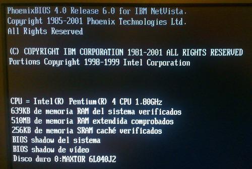 cpu ó computadora de escritorio, ibm pentium 4 1.80ghz