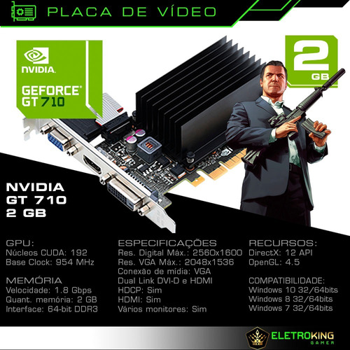 cpu pc gamer i5 3.2ghz 8gb 1tb hd 2gb nvidia geforce + kit