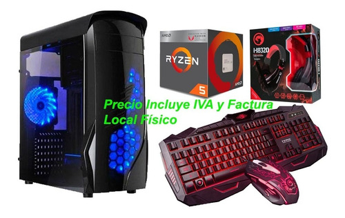 cpu pc gamer ryzen 5 2400g 3.9gh 8gb ddr4 1tb radeon vega 11