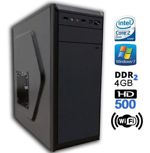 cpu pc intel core 2 duo 1.8 ghz 4gb hd 500 limpa estoque