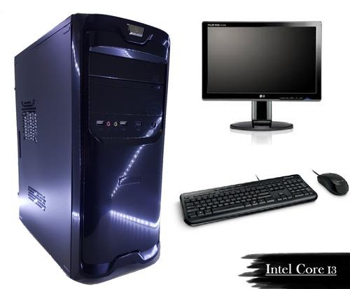 cpu pc intel core i3+ monitor lg 19,5 novo + wifi + brinde!