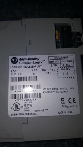 cpu plc compaclogix 1769-l31 allen bradley power industrial