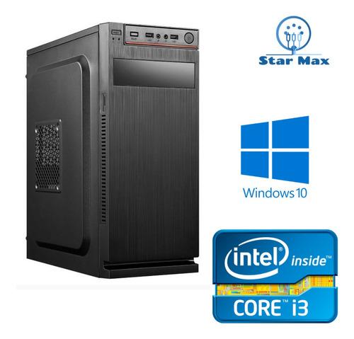 cpu starmax intel core i3 8gb ram ssd 240gb win10 nova