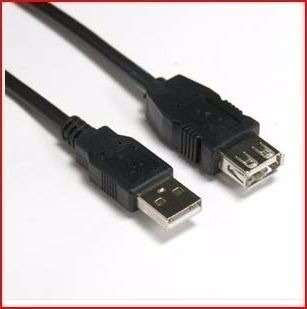 cq cable extensión 6ft hembra - macho m-f usb 2.0 laptop pc