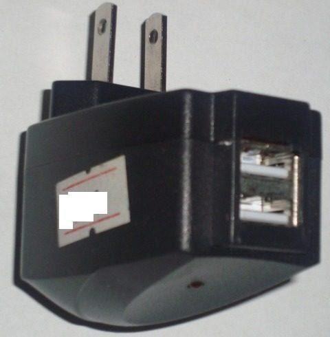 cq cargador pared 2 usb 110v pc ipod iphone 3g 3gs 4g 4s mp4