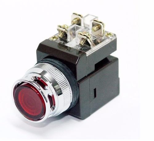 cr-304-ao-g botón pulsador iluminado momentáneo verde 30mm