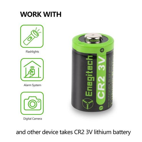 cr2 3v 800mah batería fotográfica de litio con protección pt