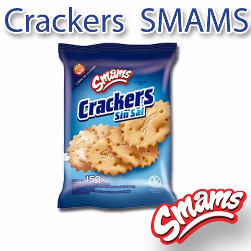 crackers libre de gluten smams x 2 cajas - riquísimas!!