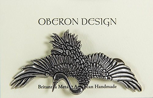 crane hair clip | broche artesanal de metal artesanal hecho