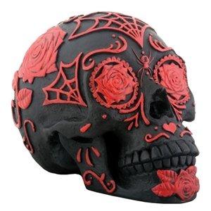 Cráneo De Azúcar Tatuaje Negro Y Rojo 120990 En Mercado Libre