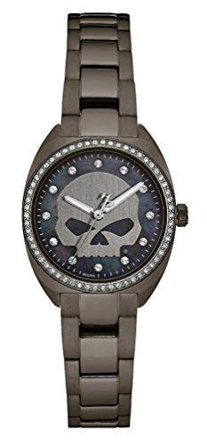 cráneo del reloj de harley-davidson cristal de las mujeres