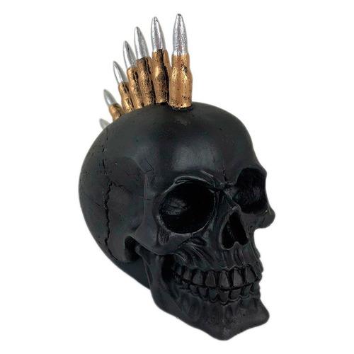 cranio caveira bala fuzil exercito decorativo resina