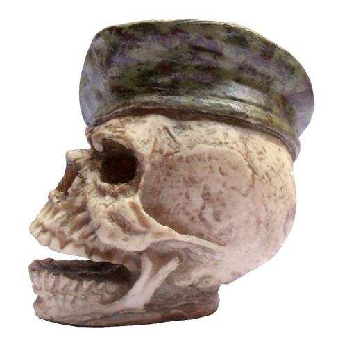cranio caveira sargento boina - resina - 100% positivo