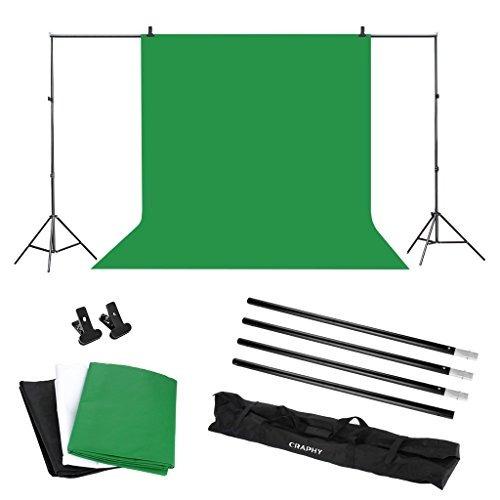 craphy photo video studio 10 x 6.5ft background stand kit ph