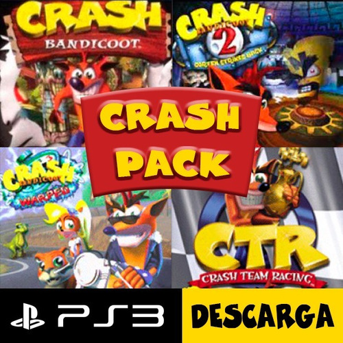 crash 1-2-3-ctr pack ps3 digital y original
