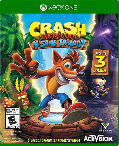 crash bandicoo n. sane trilogy - xbox one - offline