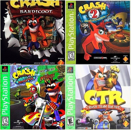 crash bandicoot 1 + 2 + 3 + kart - ps3 - digital - manvicio