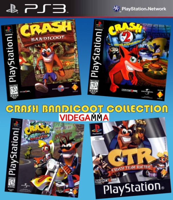 Crash bandicoot collection espa ol clasico ps1 ps3 for Mercado racing clasicos