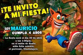 Invitacion Sonic Invitaciones Y Tarjetas Por Por Unidad