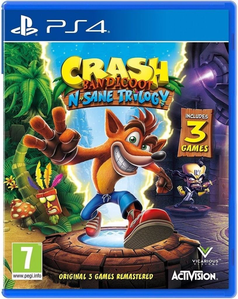 Crash Bandicoot N Sane Trilogy Juegos Ps4 Fisicos Sellado 1 099