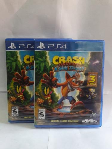 crash bandicoot n sane trilogy nuevo sellado - ps4
