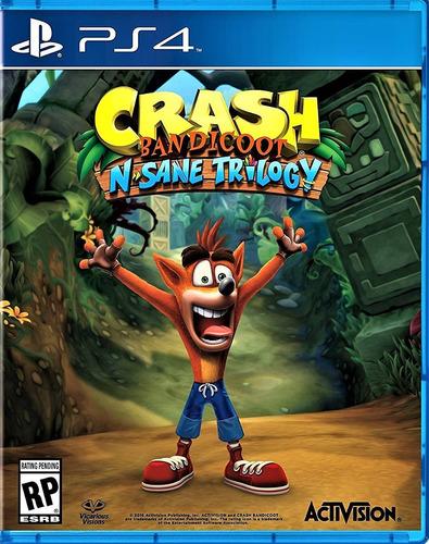 crash bandicoot n sane trilogy ps4 juego físico sellados