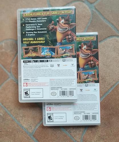 crash bandicoot - nintendo switch - cartucho físico sellado
