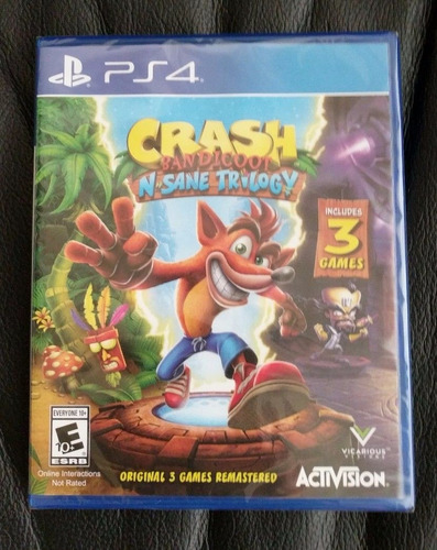 crash bandicoot n´sane trilogy ps4 nuevo sellado disponible