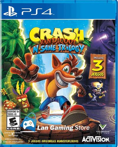 crash bandicoot ps4 nsane trilogy nuevo - poster gratis